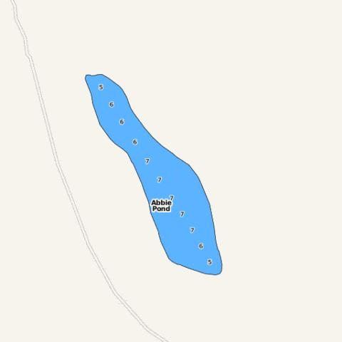 Abbie Pond Fishing Map - i-Boating App
