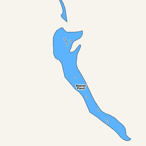 Beaver Pond Fishing Map - i-Boating App