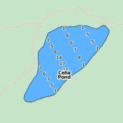 Celia Pond Fishing Map - i-Boating App