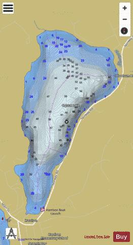 Crystal lake fishing map us me 00564634 nautical for Crystal lake fishing