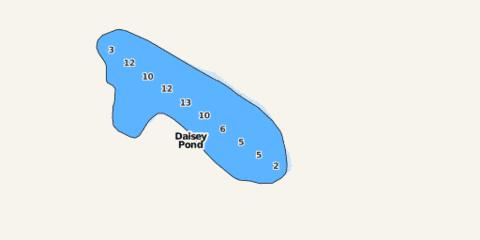Daisey Pond Fishing Map - i-Boating App