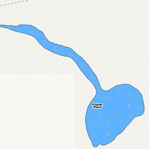 Frypan Pond Fishing Map - i-Boating App
