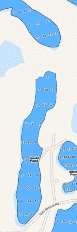 Gould Pond Fishing Map - i-Boating App