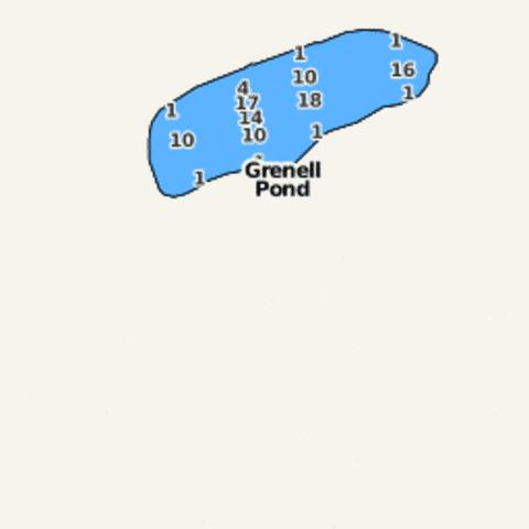 Grenell Pond Fishing Map - i-Boating App