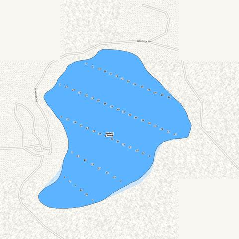 Heald Pond Fishing Map - i-Boating App
