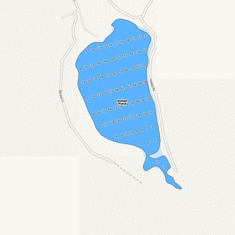 Indian Pond Fishing Map - i-Boating App