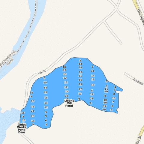 Leighs Mill Pond Fishing Map - i-Boating App