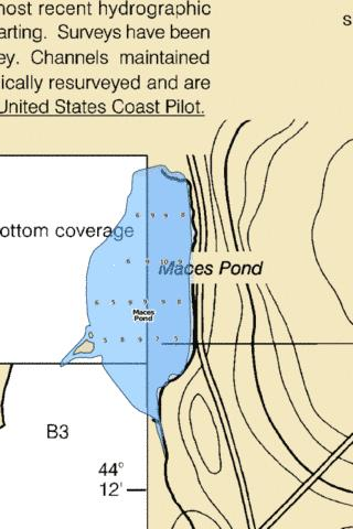 Maces Pond Fishing Map - i-Boating App