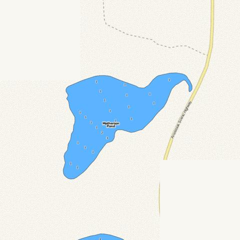 Matherson Pond Fishing Map - i-Boating App