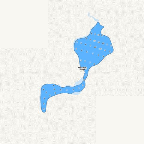Moccasin Pond Fishing Map - i-Boating App