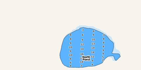North Pond Fishing Map - i-Boating App