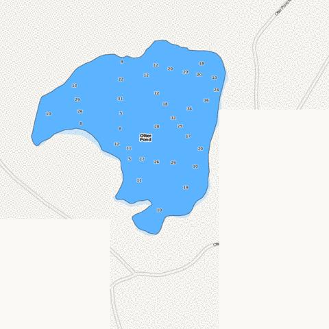 Otter Pond Fishing Map - i-Boating App