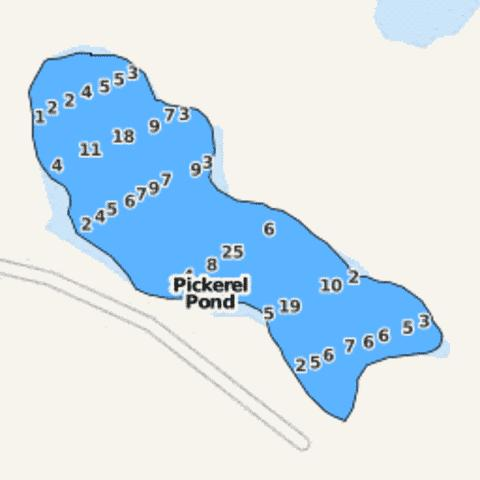 Pickerel Pond Fishing Map - i-Boating App