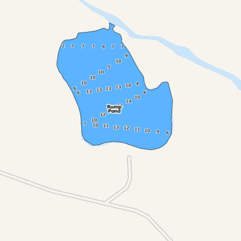 Rump Pond Fishing Map - i-Boating App