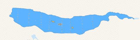 Second Debsconeag Lake Fishing Map - i-Boating App