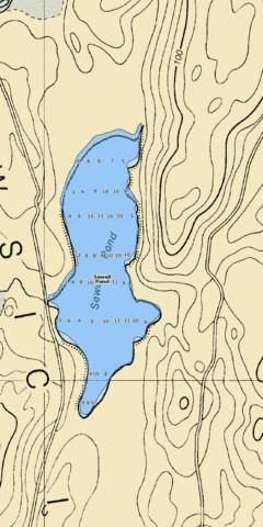 Sewell Pond Fishing Map - i-Boating App