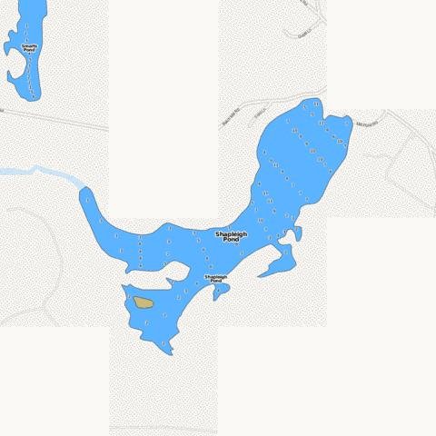 Shapleigh Pond Fishing Map - i-Boating App