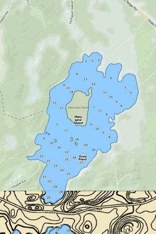 Third Pond Fishing Map - i-Boating App