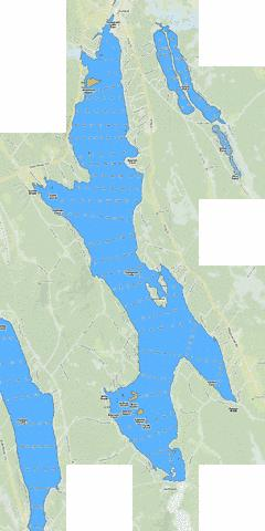 Thompson Lake (Fishing Map : US_ME_00577015) | Nautical Charts App