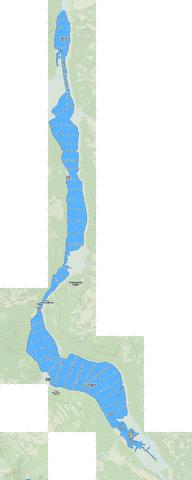 Umsaskis Lake Fishing Map - i-Boating App