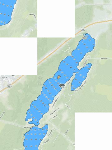 Upper Narrows Pond Fishing Map - i-Boating App
