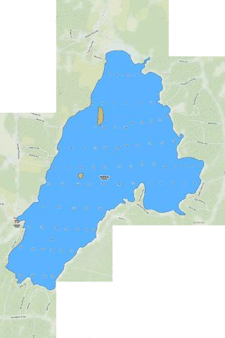 Webber Pond Fishing Map - i-Boating App