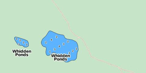 Whidden Ponds Fishing Map - i-Boating App