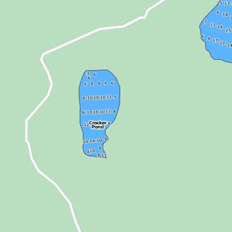 Crocker Pond Fishing Map - i-Boating App