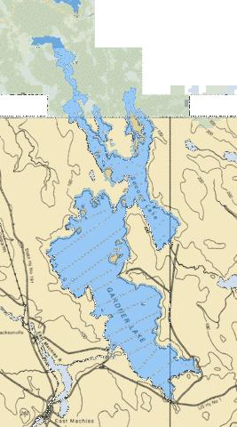 Gardner Lake Fishing Map USME00581425 Nautical Charts App