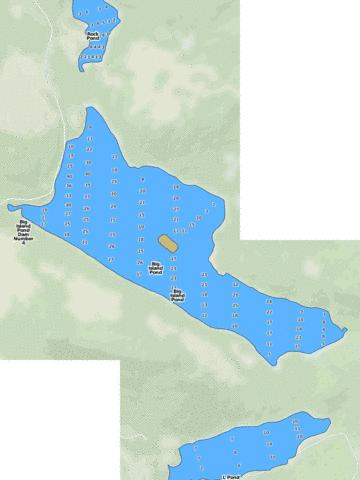 Big Island Pond Fishing Map - i-Boating App