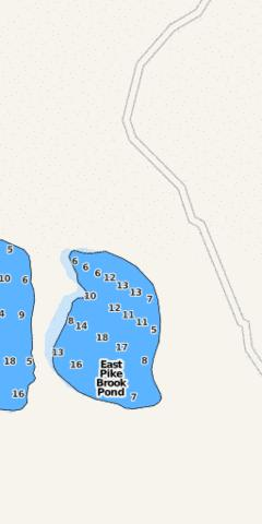 East Pike Brook Pond Fishing Map - i-Boating App