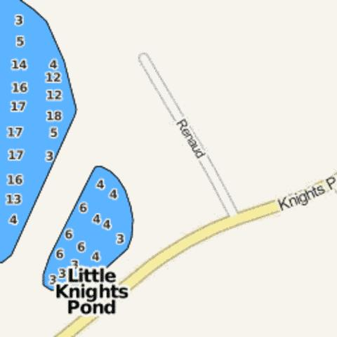 Little Knights Pond Fishing Map - i-Boating App