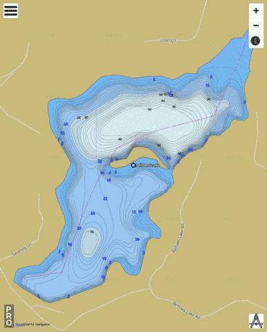 Bellows Lake Fishing Map - i-Boating App