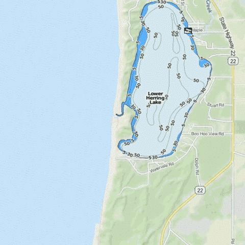 Lower Herring Lake Fishing Map - i-Boating App