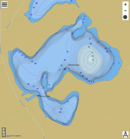Oliverda Lake Fishing Map - i-Boating App
