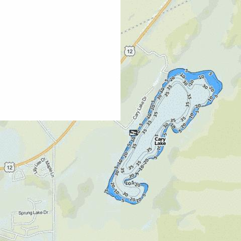 Cary Lake Fishing Map - i-Boating App