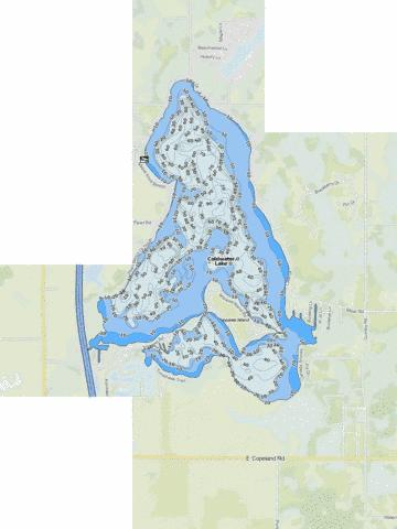Coldwater Lake Fishing Map - i-Boating App