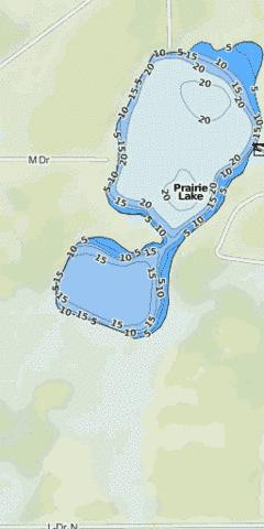 Max 80 Winnipeg >> Prairie Lake (Fishing Map : US_MI_13_23) | Nautical Charts App
