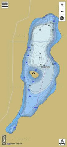 Harts Lake Fishing Map - i-Boating App