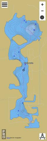 Turtle Lake Fishing Map - i-Boating App