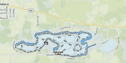 Donnell Lake Fishing Map - i-Boating App