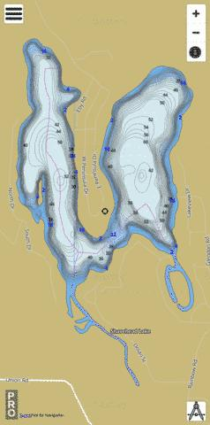 Shavehead Lake Fishing Map - i-Boating App
