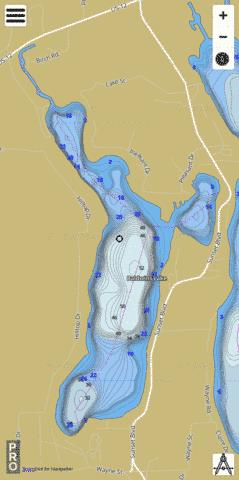 Baldwins Lake Fishing Map - i-Boating App