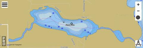 Finch Lake Fishing Map - i-Boating App
