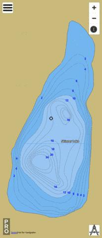 Skinner Lake Fishing Map - i-Boating App
