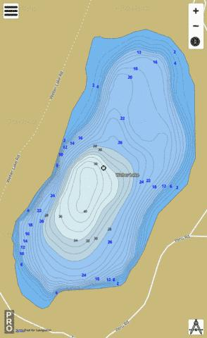 Weber Lake Fishing Map - i-Boating App