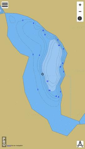 Twin Lake (Central) Fishing Map - i-Boating App