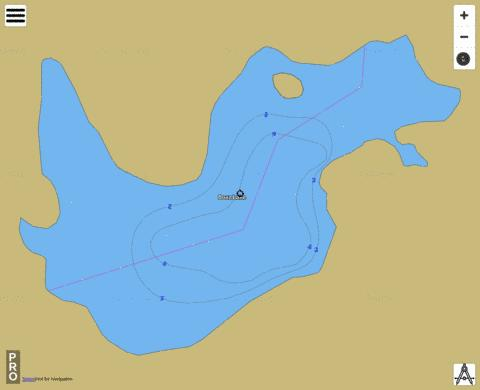 Boaz Lake Fishing Map - i-Boating App