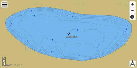 Johnson Lake Fishing Map - i-Boating App