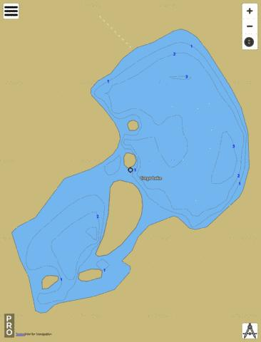 Crego Lake Fishing Map - i-Boating App